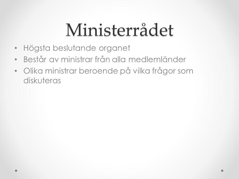 Ministerrådet Högsta beslutande organet