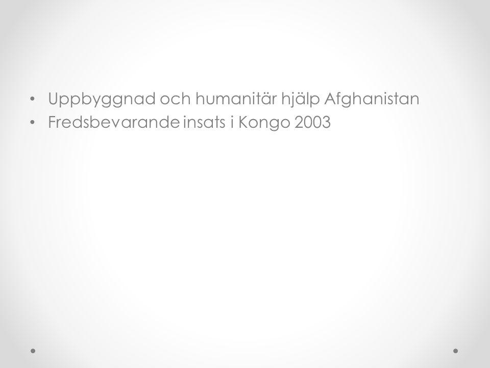 Uppbyggnad och humanitär hjälp Afghanistan