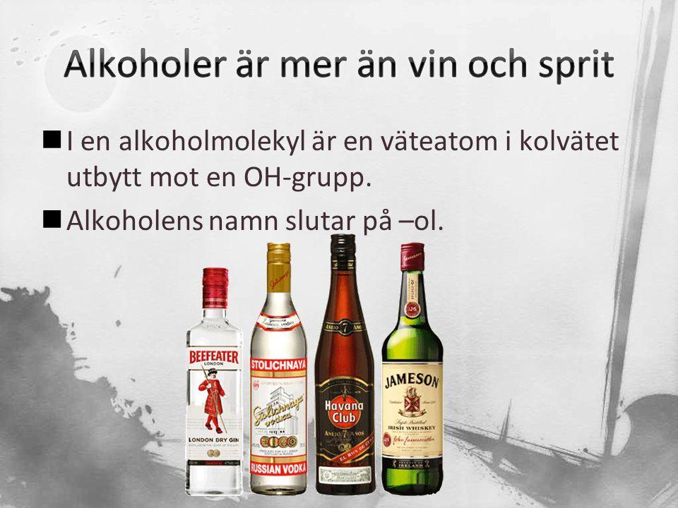 Alkoholer är mer än vin och sprit