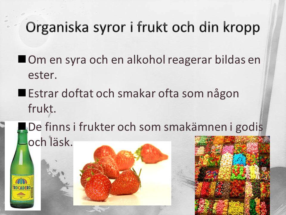 Organiska syror i frukt och din kropp
