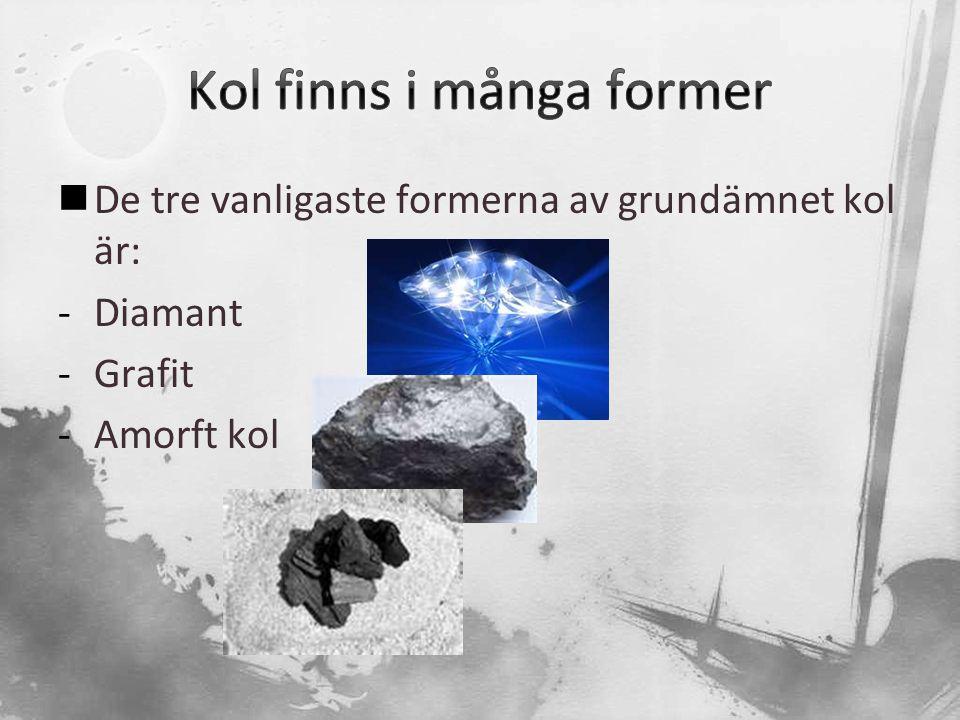 Kol finns i många former