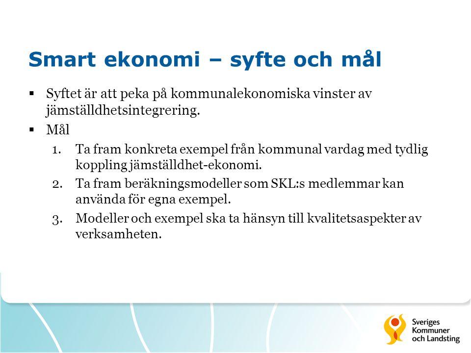 Smart ekonomi – syfte och mål