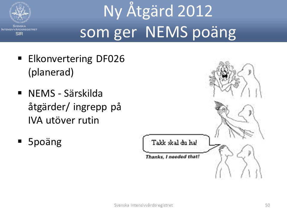 Ny Åtgärd 2012 som ger NEMS poäng