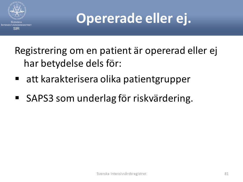Svenska Intensivvårdsregistret