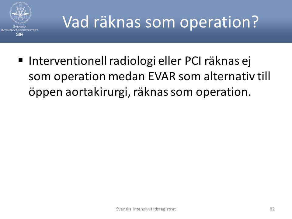 Vad räknas som operation