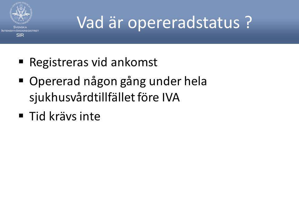 Vad är opereradstatus Registreras vid ankomst