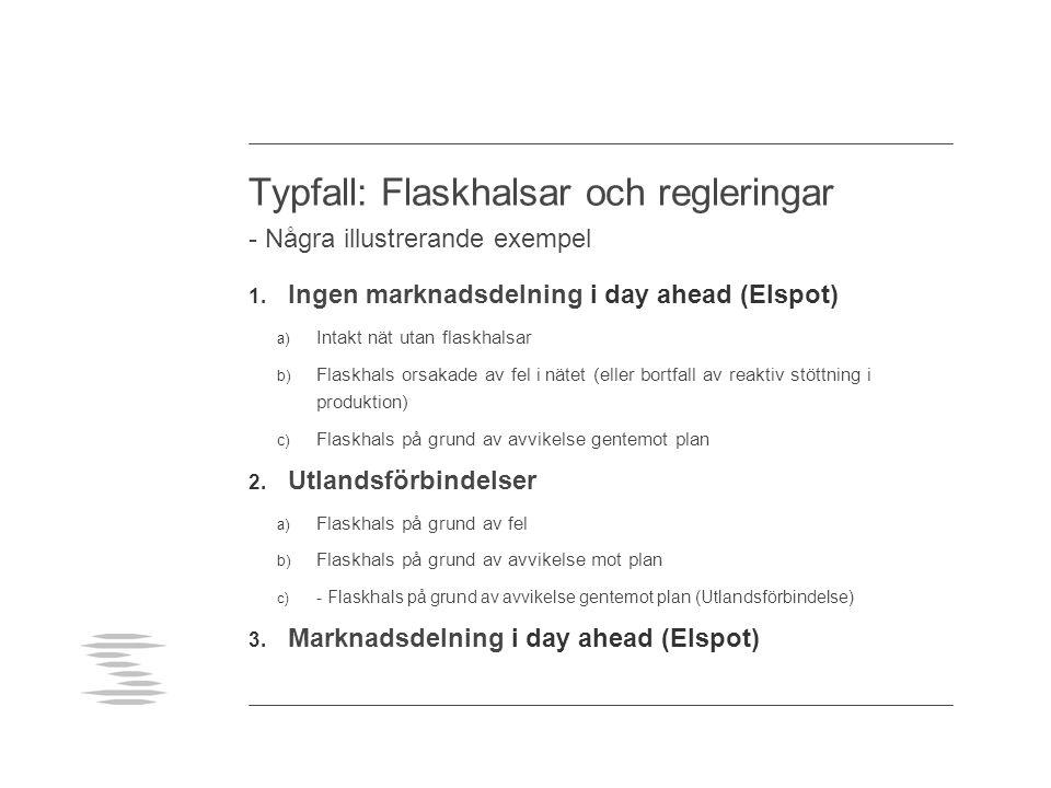 Typfall: Flaskhalsar och regleringar - Några illustrerande exempel