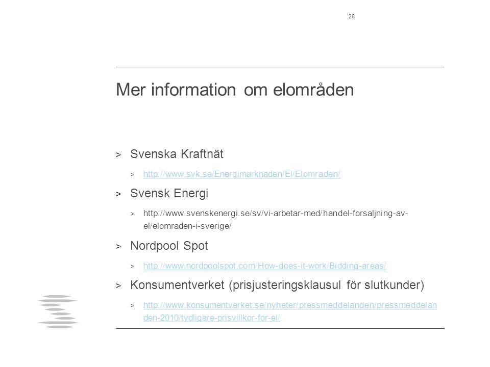 Mer information om elområden