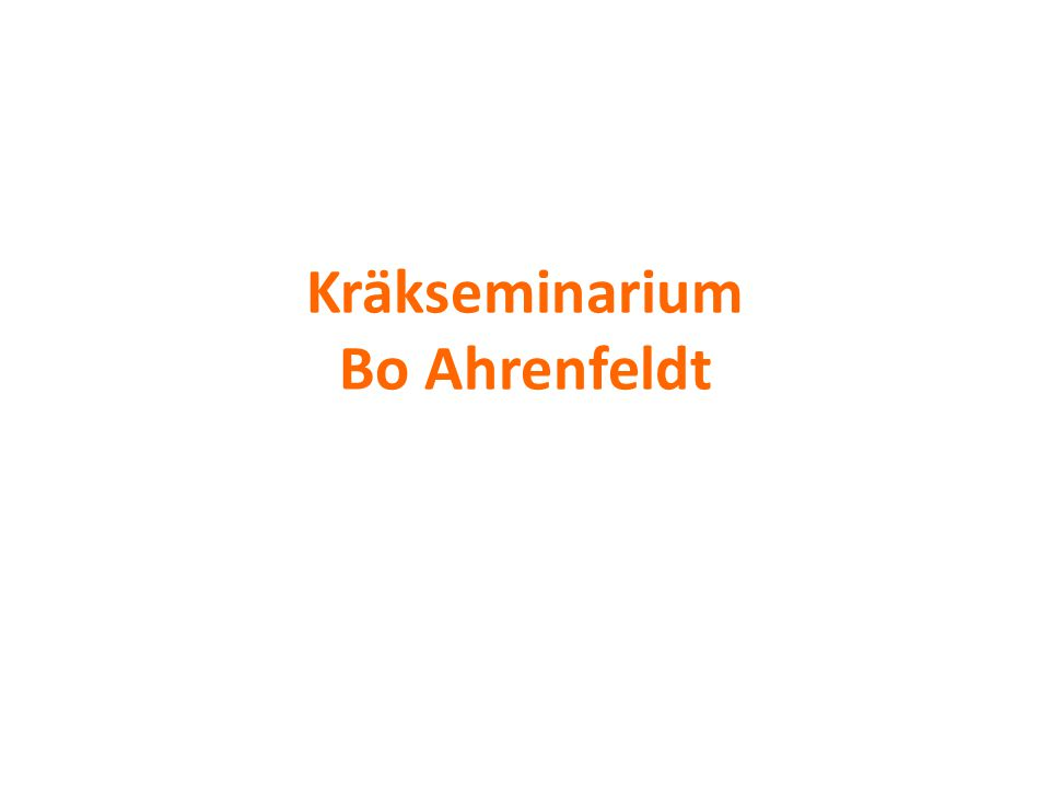 Kräkseminarium Bo Ahrenfeldt