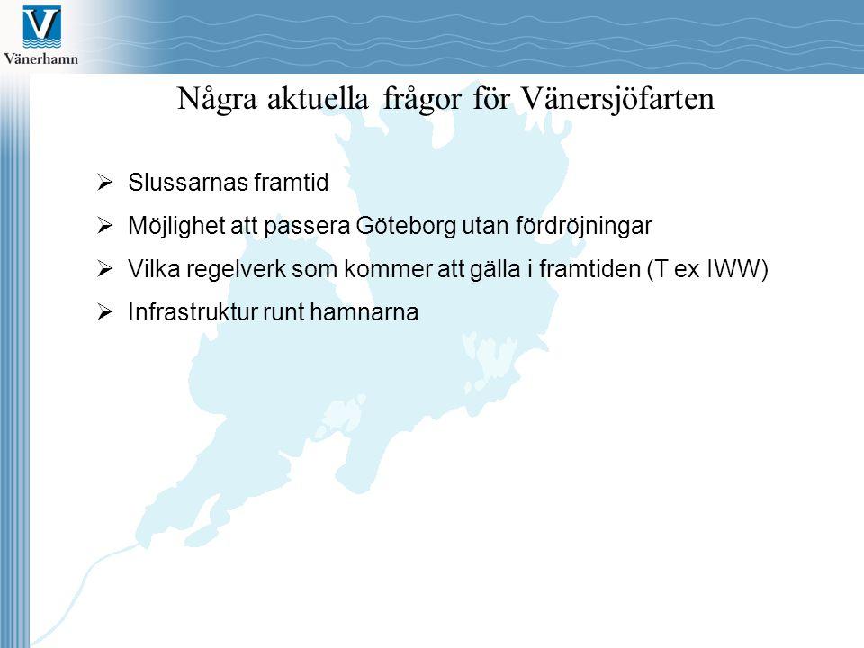 Några aktuella frågor för Vänersjöfarten