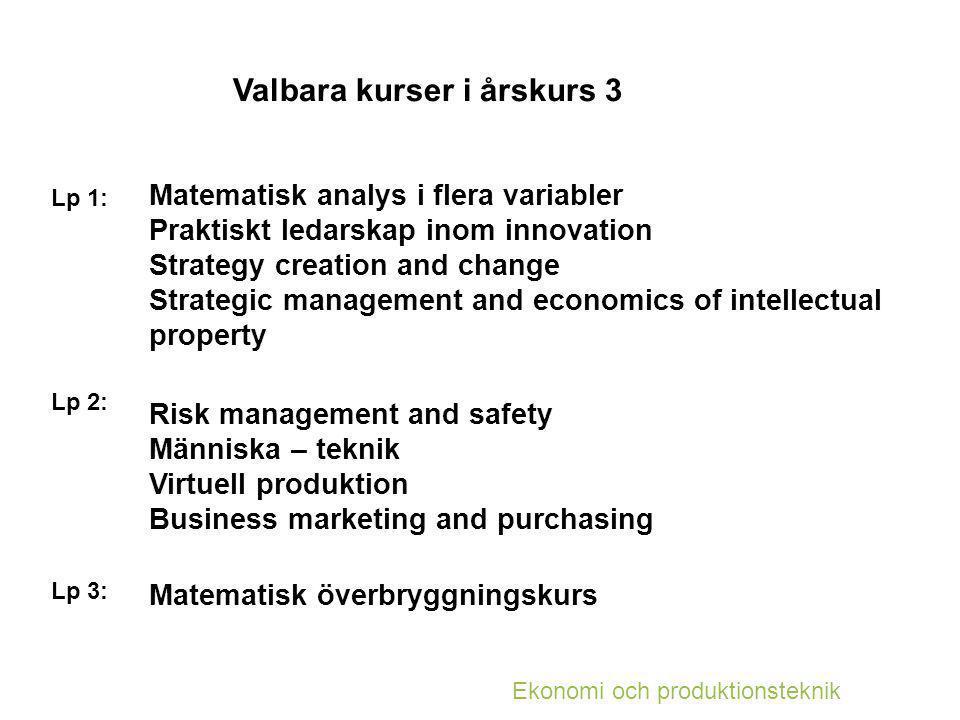 Valbara kurser i årskurs 3
