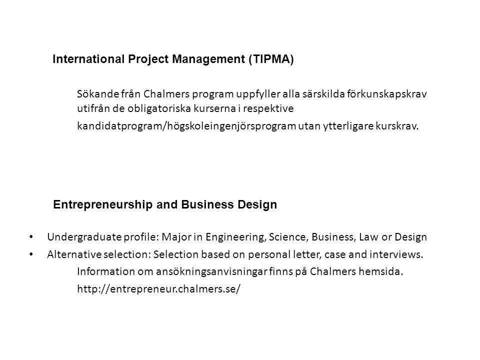 International Project Management (TIPMA)