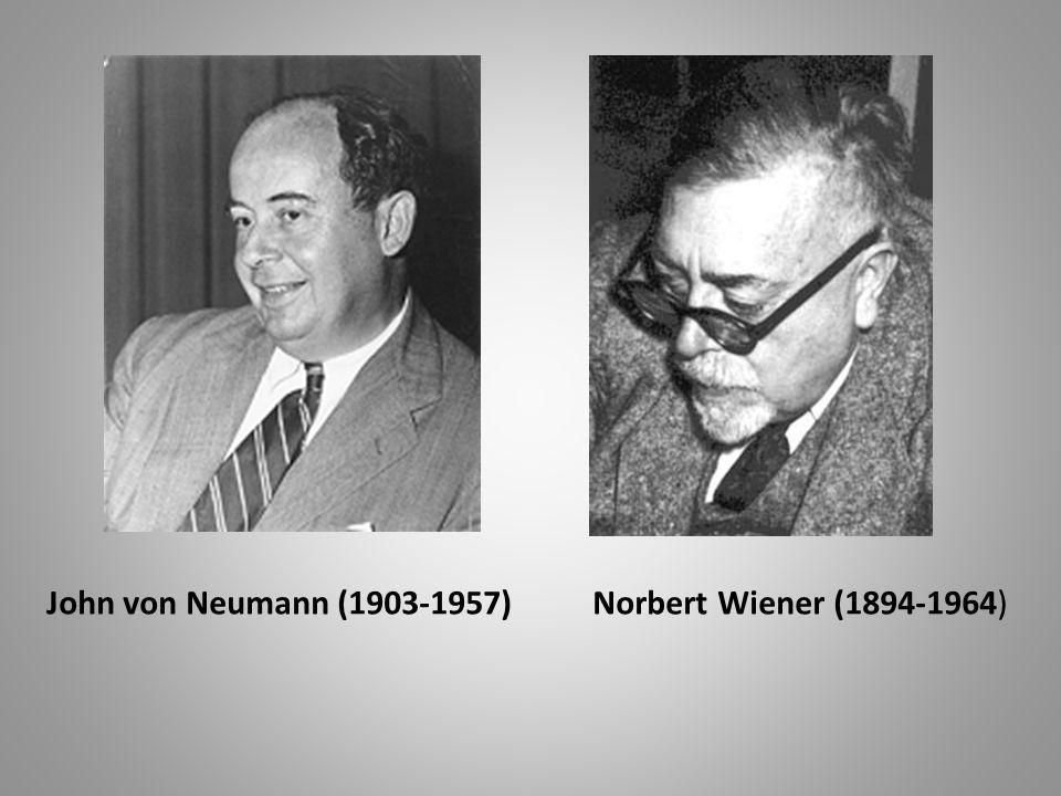 John von Neumann (1903-1957) Norbert Wiener (1894-1964)