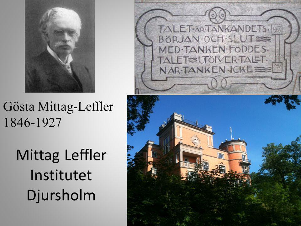 Mittag Leffler Institutet Djursholm