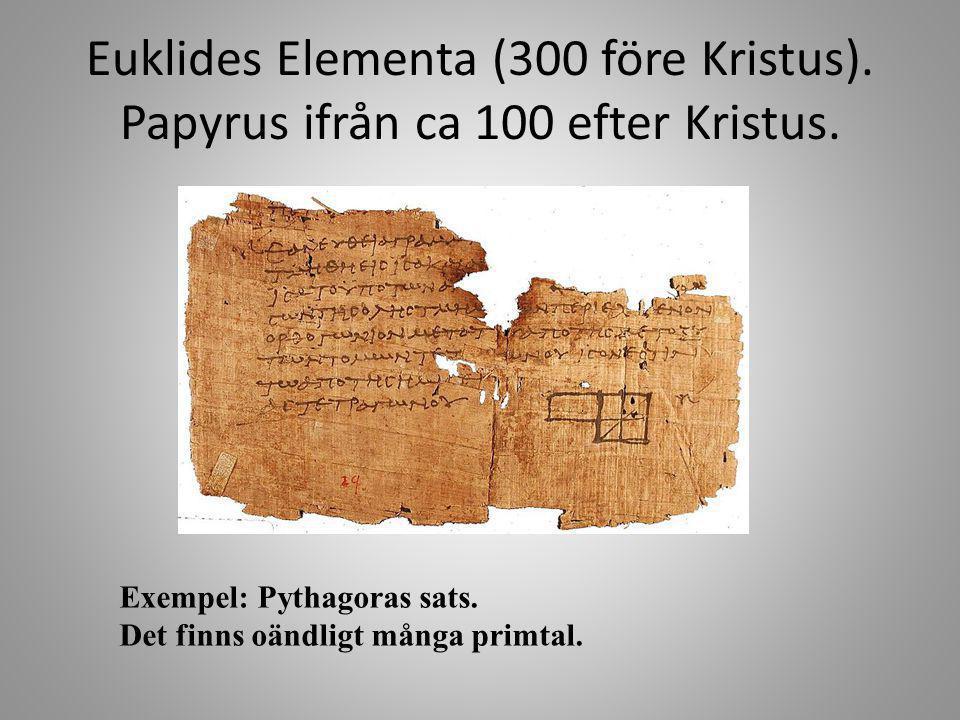 Euklides Elementa (300 före Kristus)