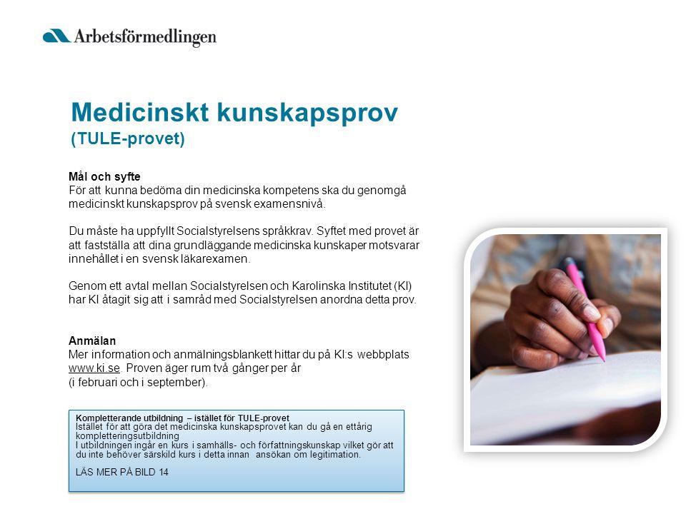 Medicinskt kunskapsprov (TULE-provet)