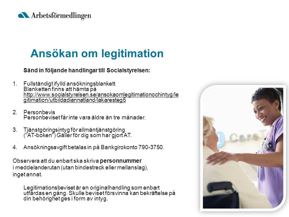 Ansökan om legitimation