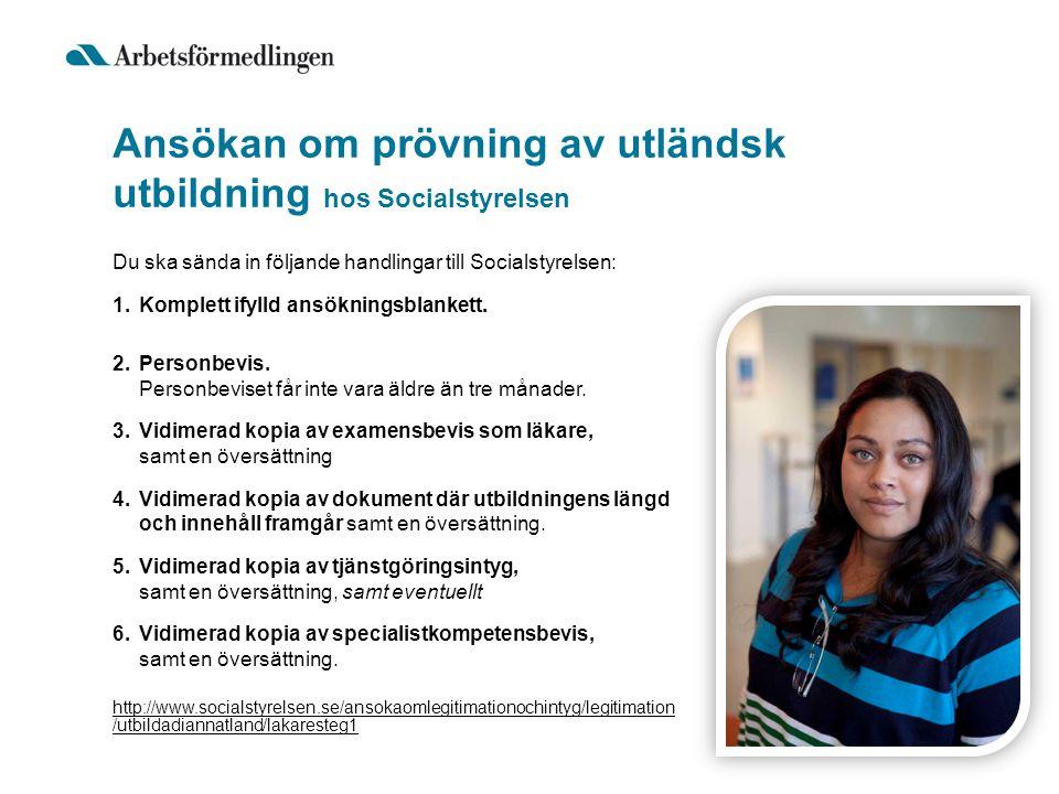 Ansökan om prövning av utländsk utbildning hos Socialstyrelsen