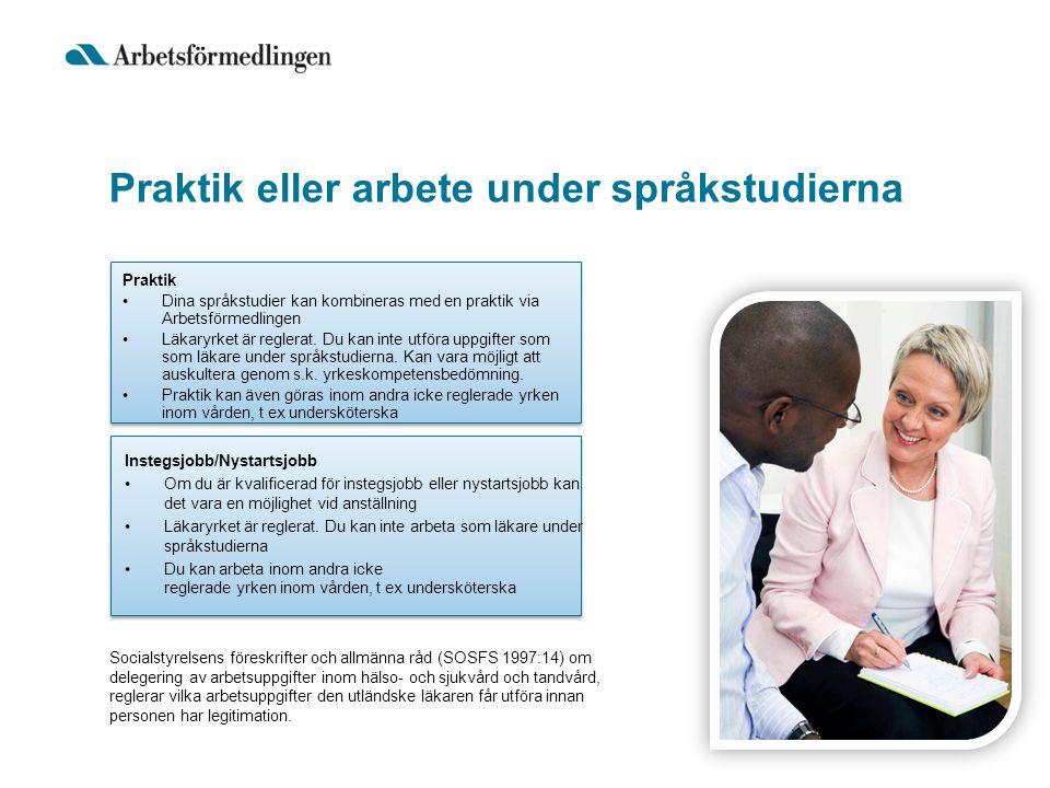 Praktik eller arbete under språkstudierna