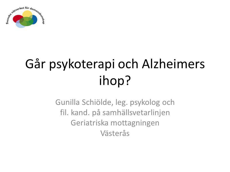Går psykoterapi och Alzheimers ihop