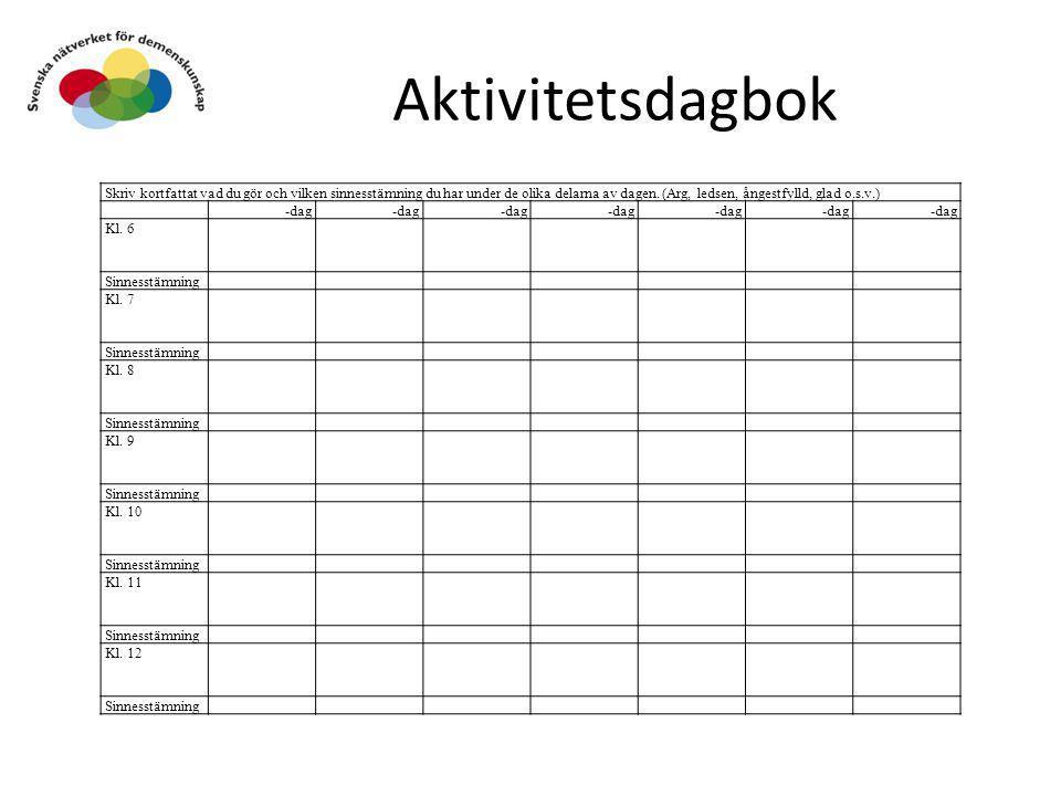 Aktivitetsdagbok