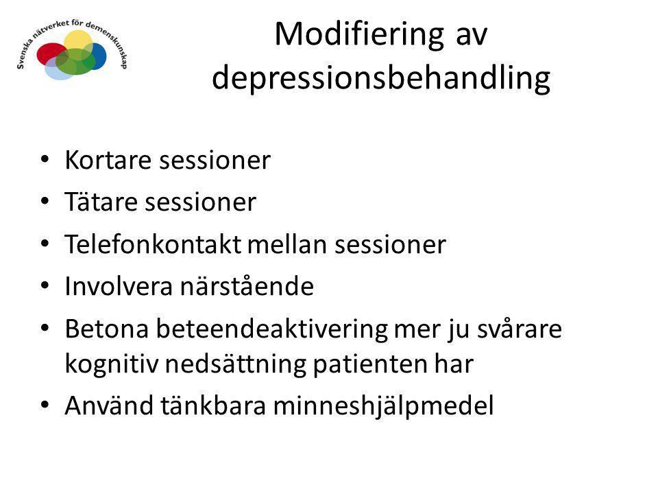 Modifiering av depressionsbehandling