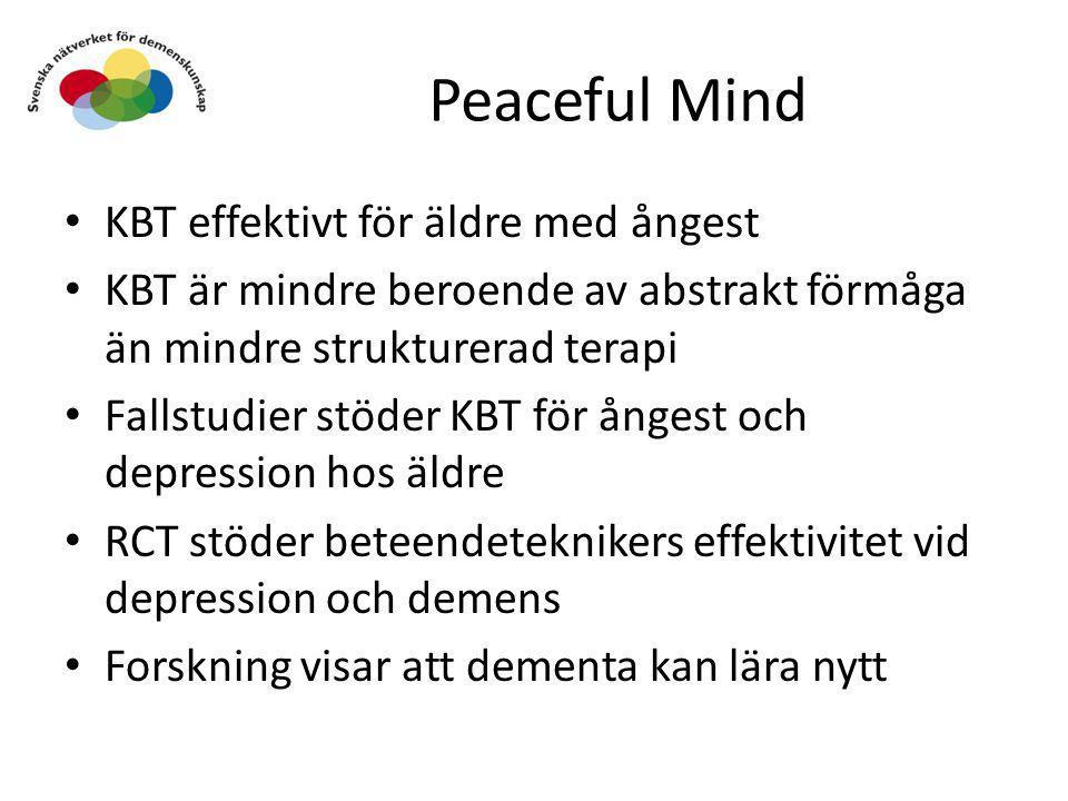Peaceful Mind KBT effektivt för äldre med ångest