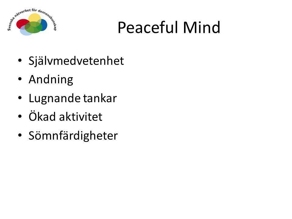 Peaceful Mind Självmedvetenhet Andning Lugnande tankar Ökad aktivitet