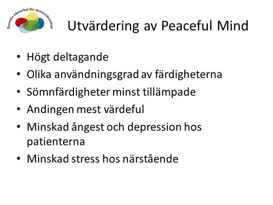 Utvärdering av Peaceful Mind