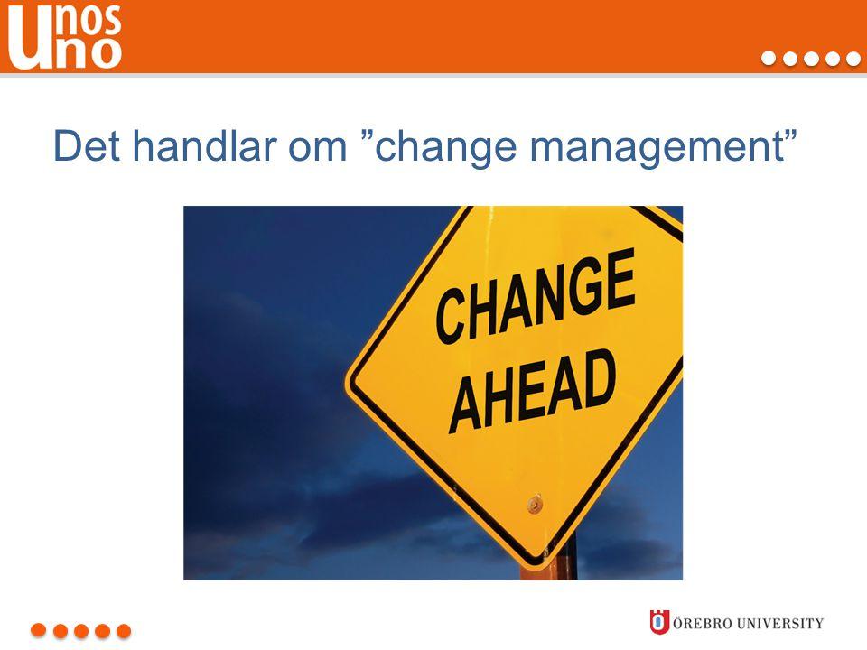 Det handlar om change management