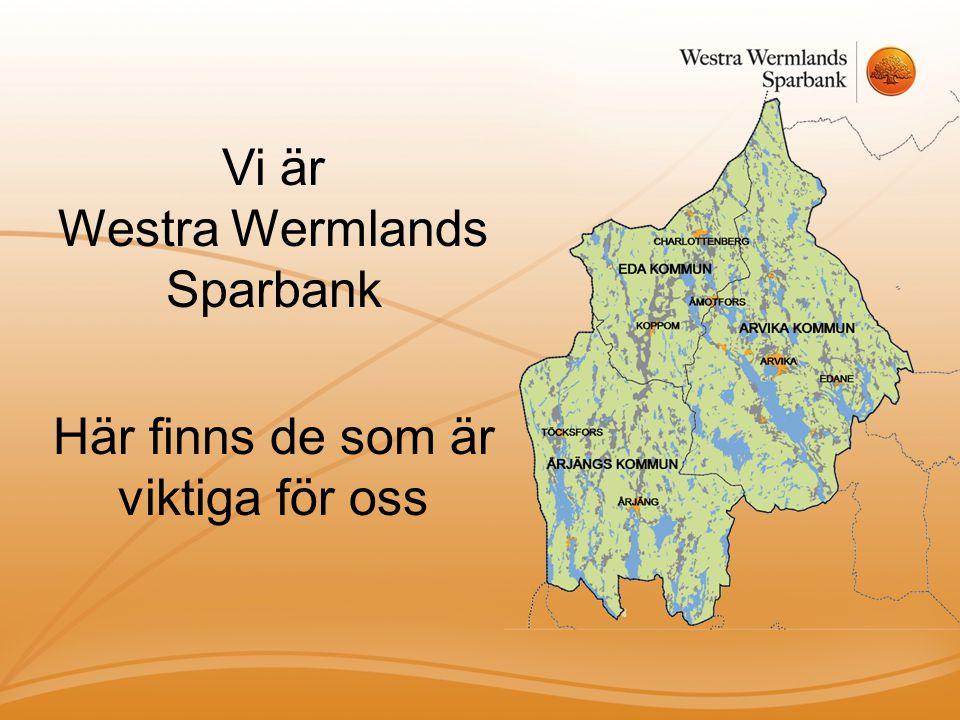 Vi är Westra Wermlands Sparbank