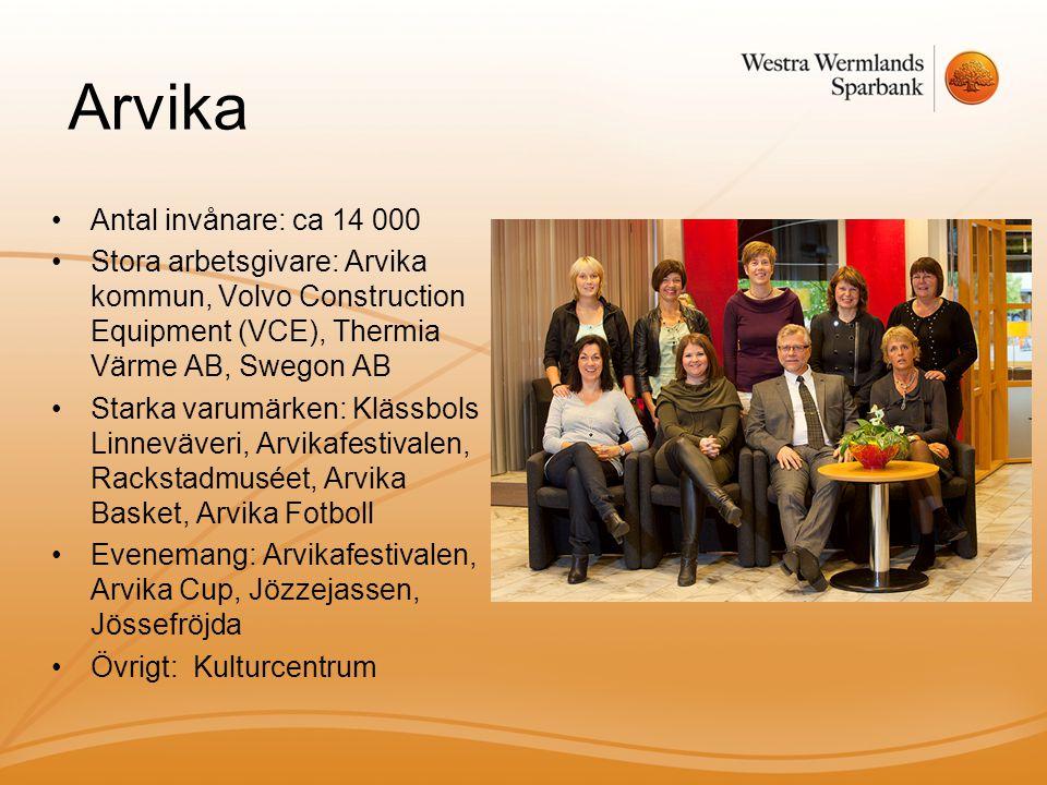 Arvika Antal invånare: ca 14 000