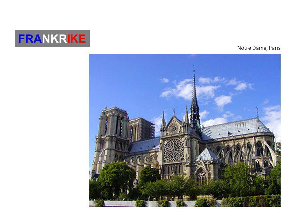 FRANKRIKE Notre Dame, Paris