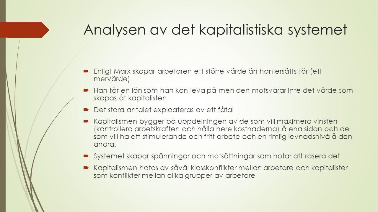 Analysen av det kapitalistiska systemet