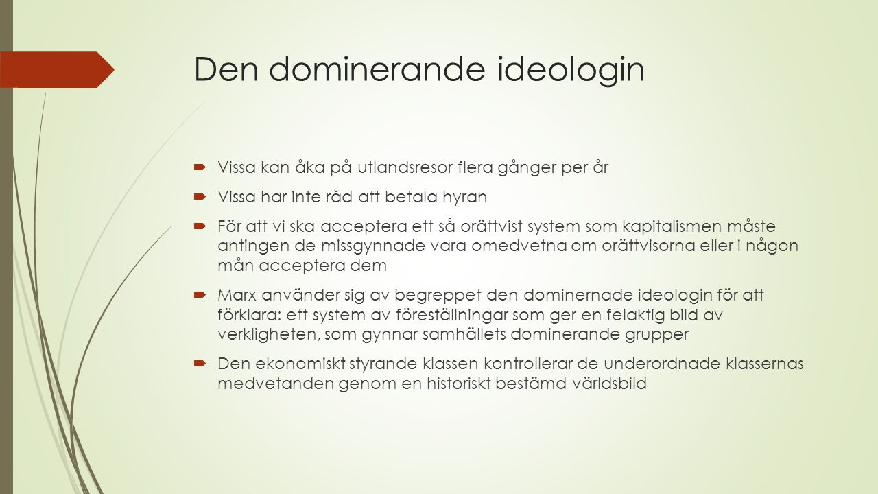 Den dominerande ideologin