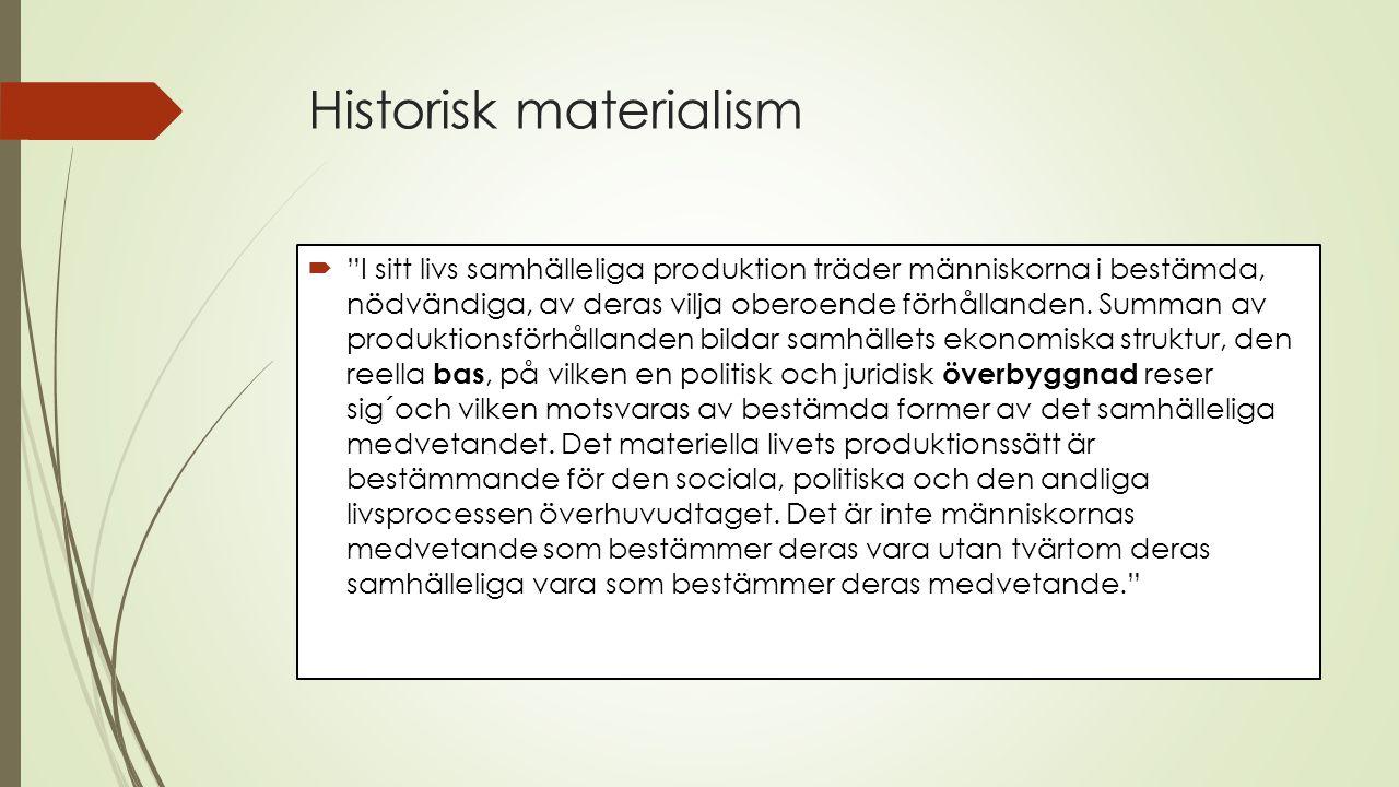 Historisk materialism