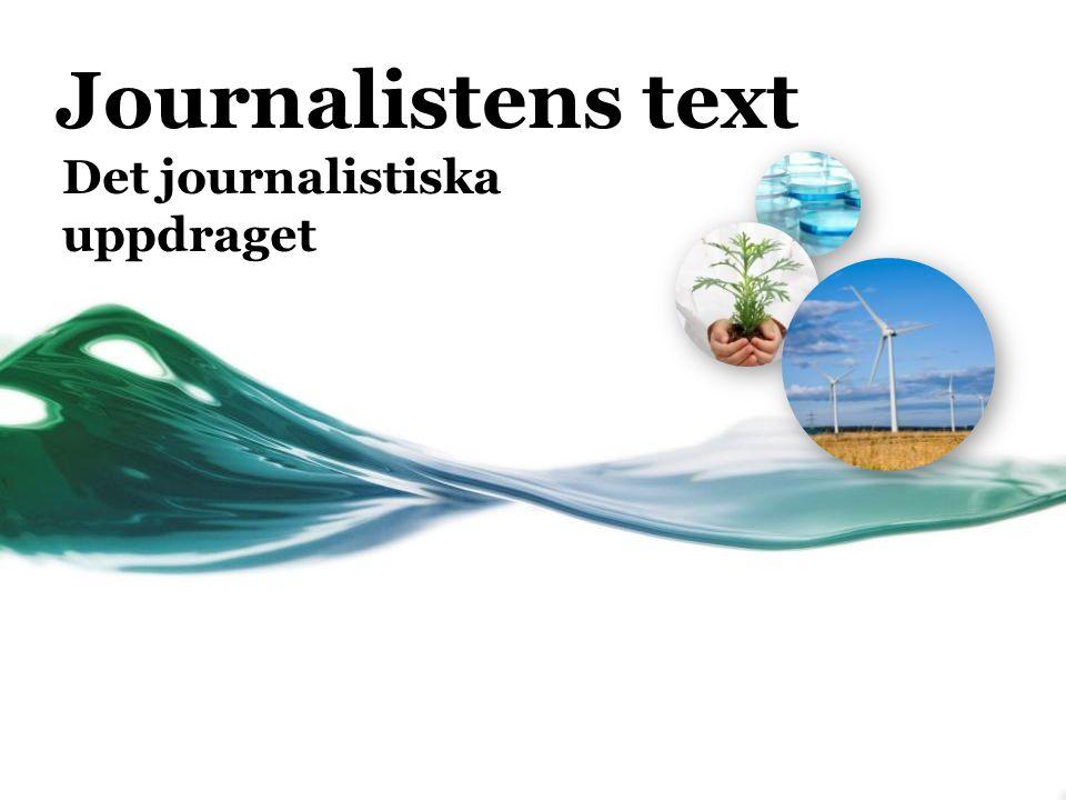 Det journalistiska uppdraget