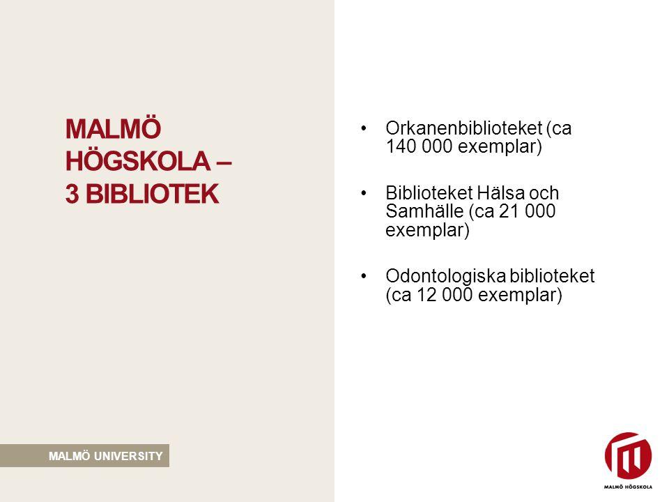 malmö högskola – 3 bibliotek