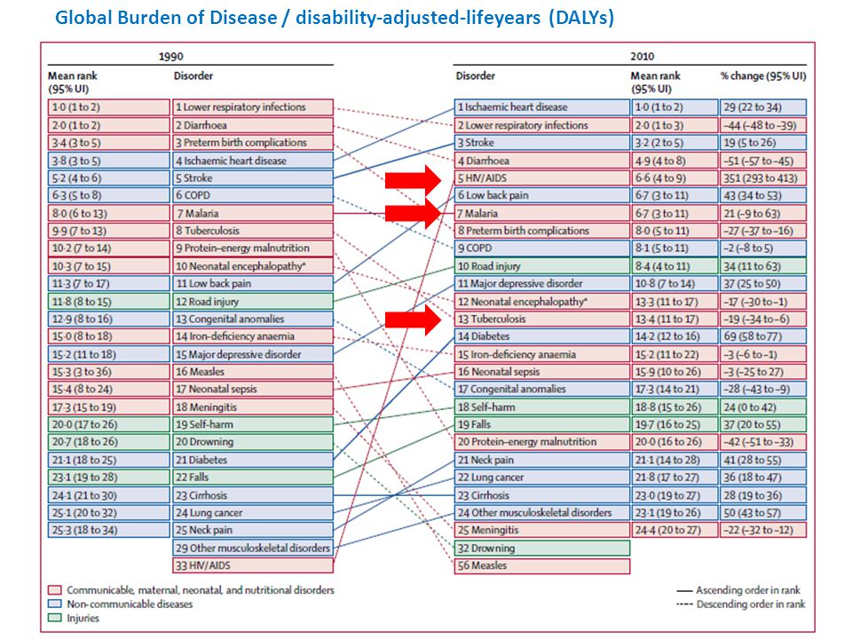 Global Burden of Disease / disability-adjusted-lifeyears (DALYs)