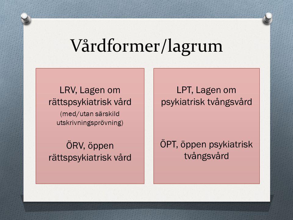 Vårdformer/lagrum LRV, Lagen om rättspsykiatrisk vård