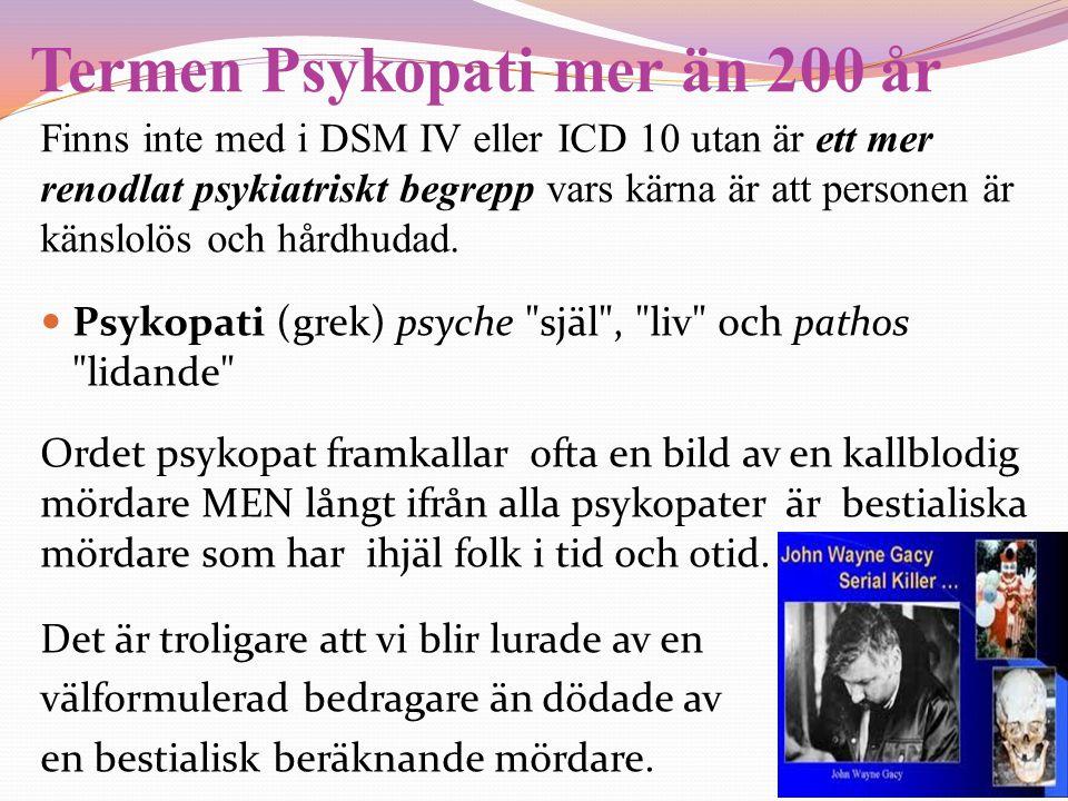 Termen Psykopati mer än 200 år