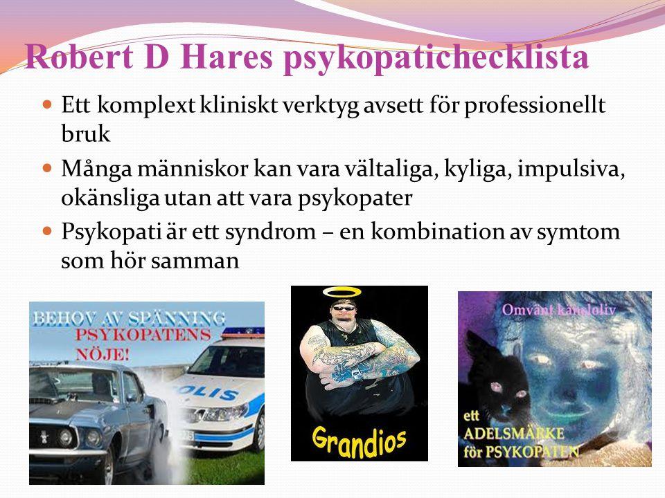 Robert D Hares psykopatichecklista