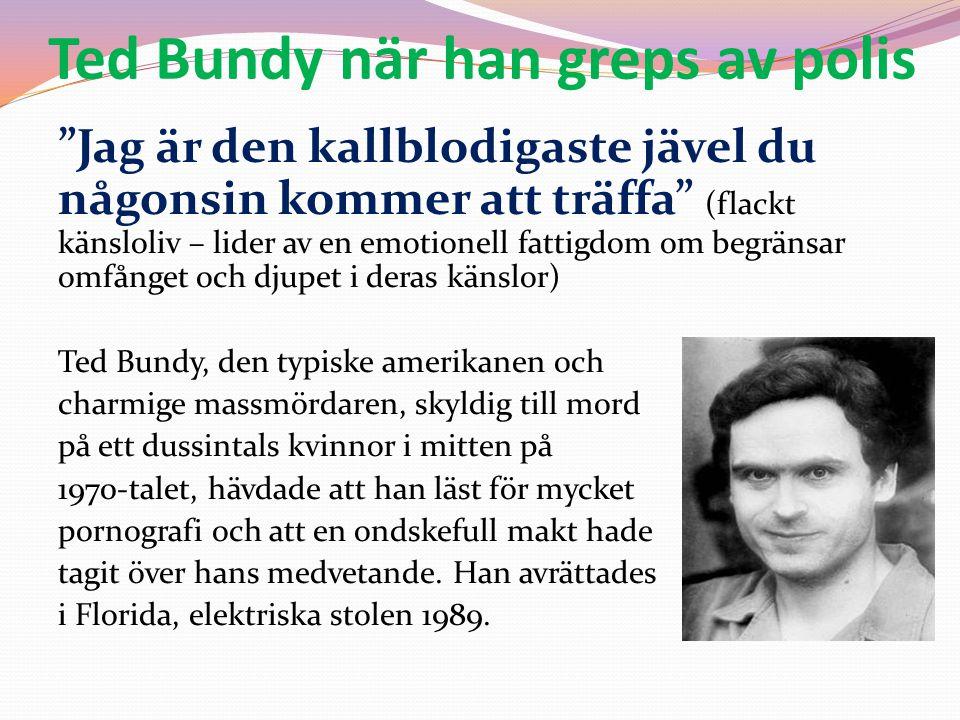 Ted Bundy när han greps av polis