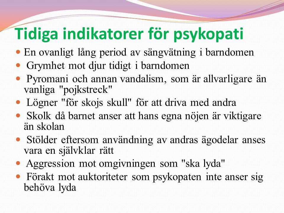 Tidiga indikatorer för psykopati