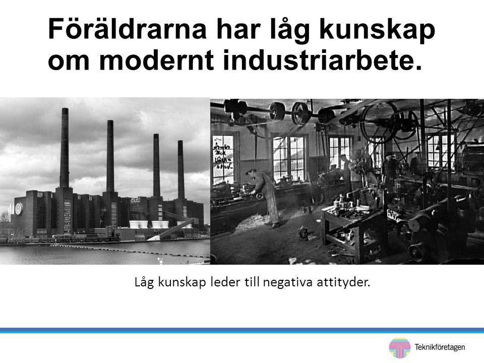 Föräldrarna har låg kunskap om modernt industriarbete.