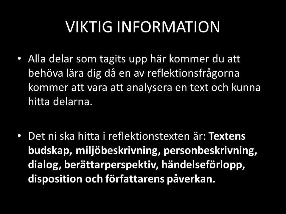 VIKTIG INFORMATION