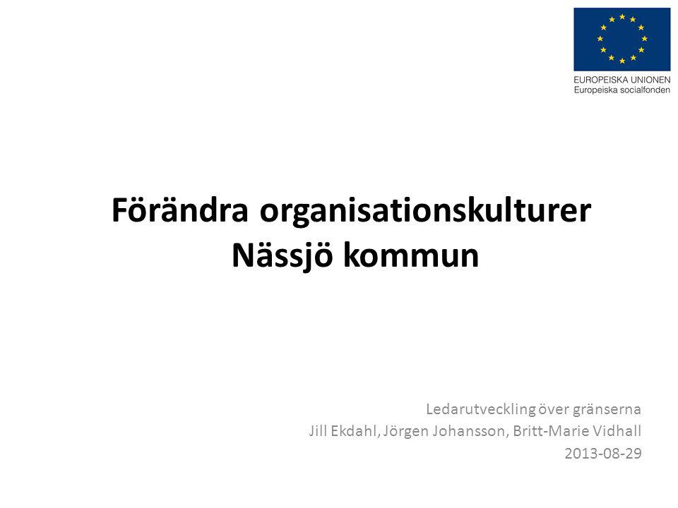 Förändra organisationskulturer Nässjö kommun