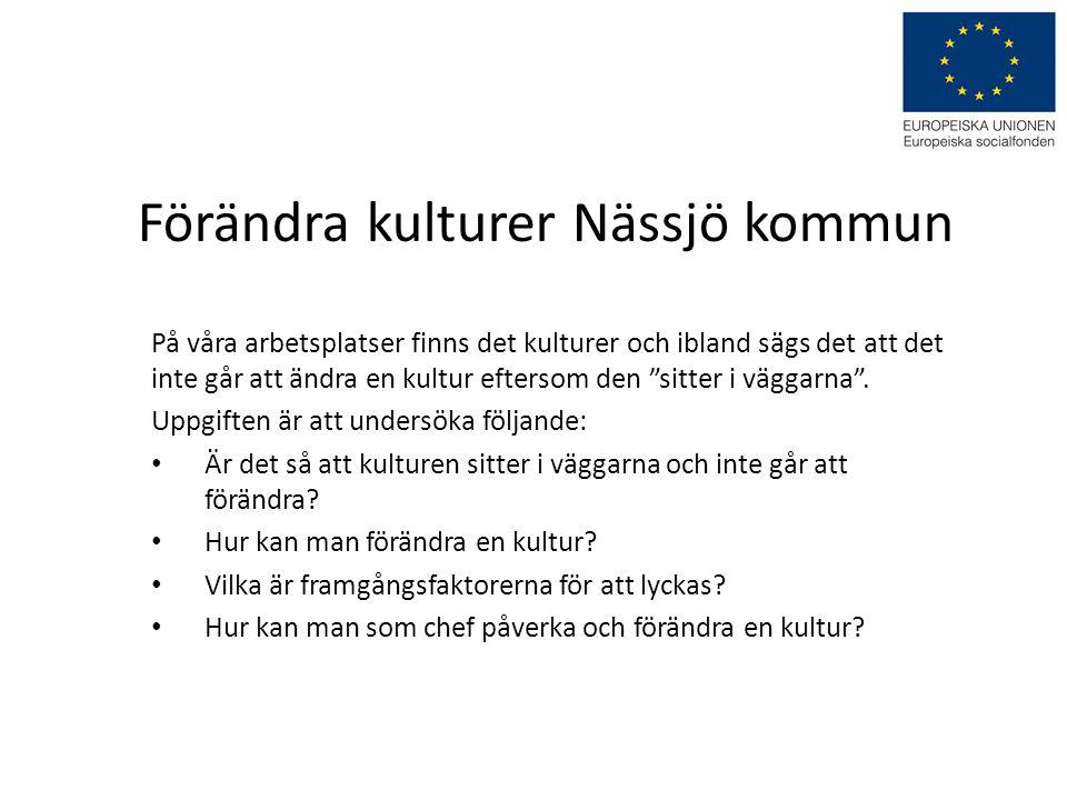 Förändra kulturer Nässjö kommun