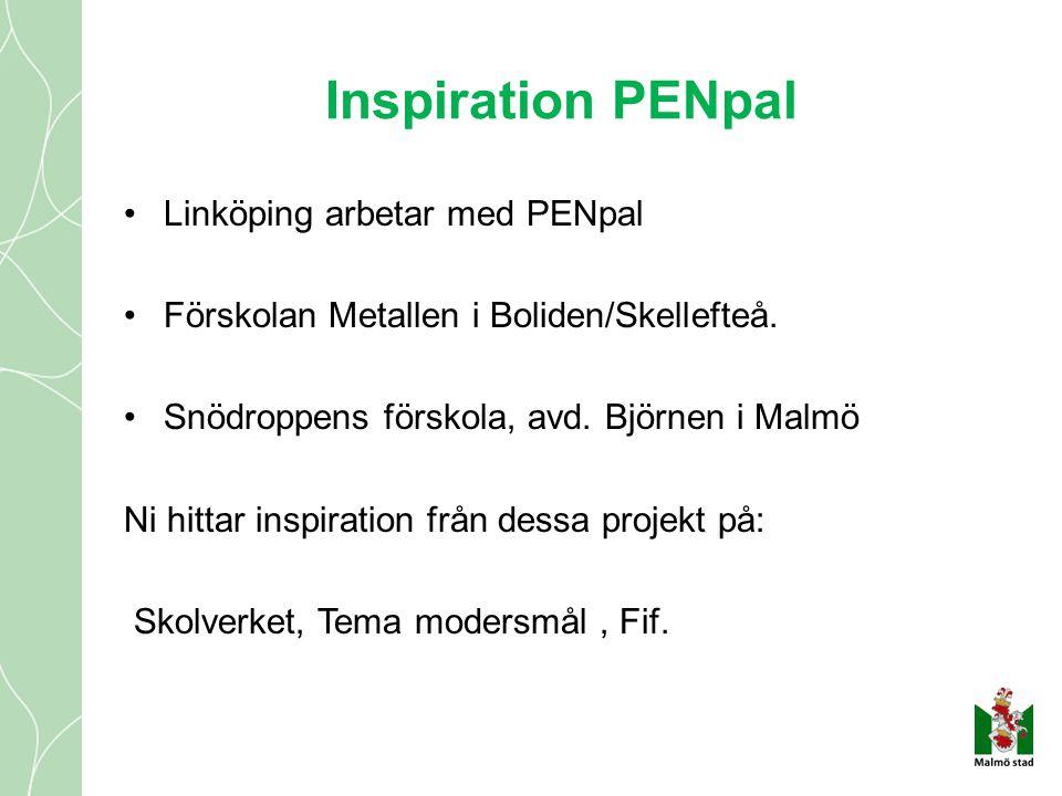Inspiration PENpal Linköping arbetar med PENpal