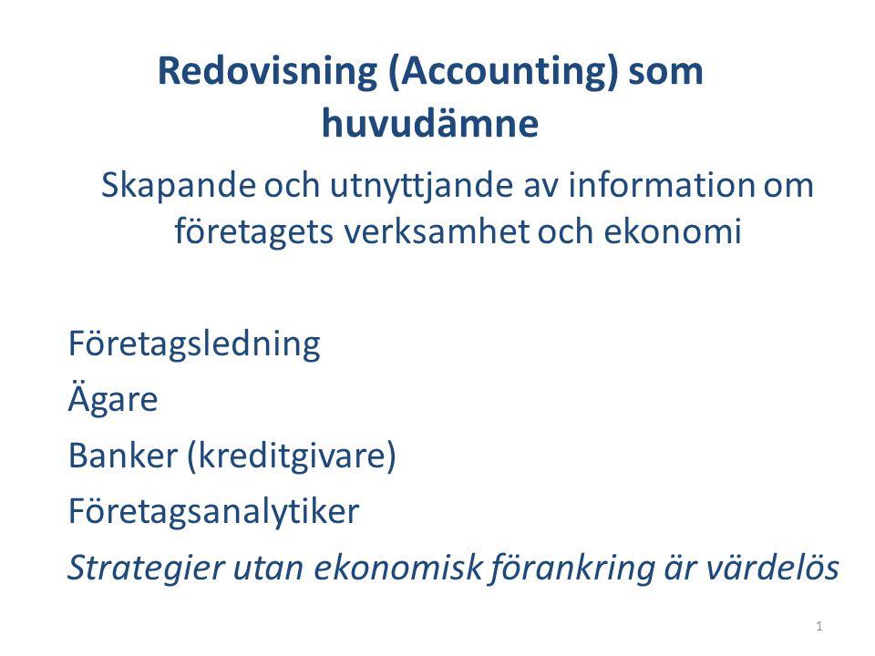 Redovisning (Accounting) som huvudämne